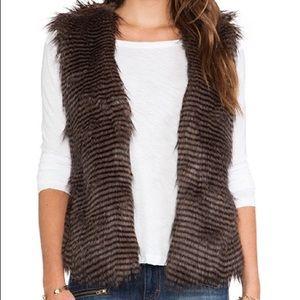 Jack by bb dakota fur vest size s